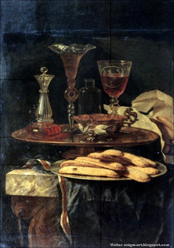 Christian Berentz, Verres et plat e biscuits, fin XVIIème siècle