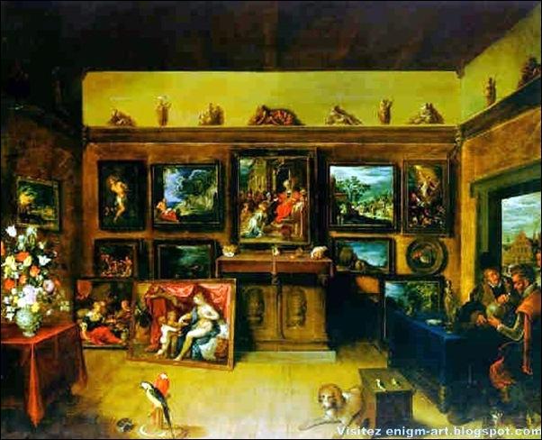 Frans Francken le Jeune, galerie d'homme de science,  1612