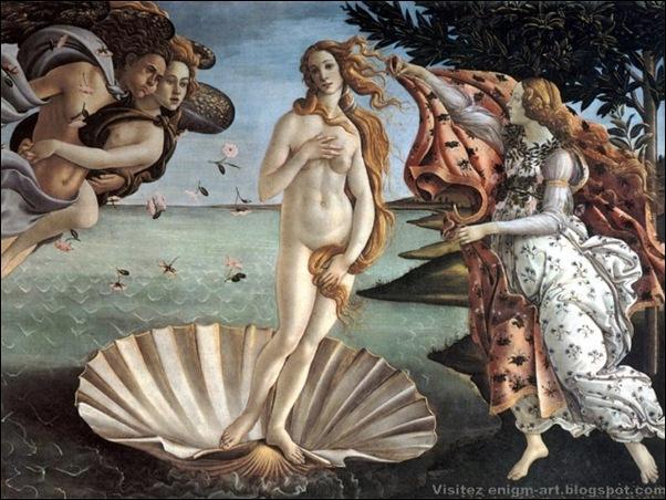 Botticelli, La Naissance de Vénus, 1485