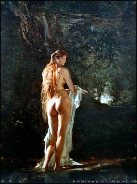 Paul Merwart , Vénus callipyge et cheveux longs