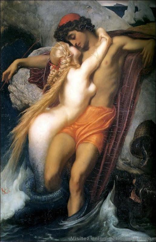 Frederic Leighton, Le pêcheur et la Sirène, 1858
