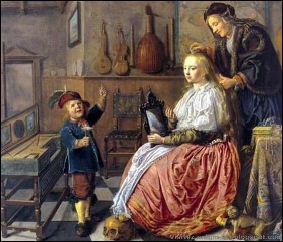 Molemaer, Allégorie de la Vanité ou Femme à sa toilette, 1633