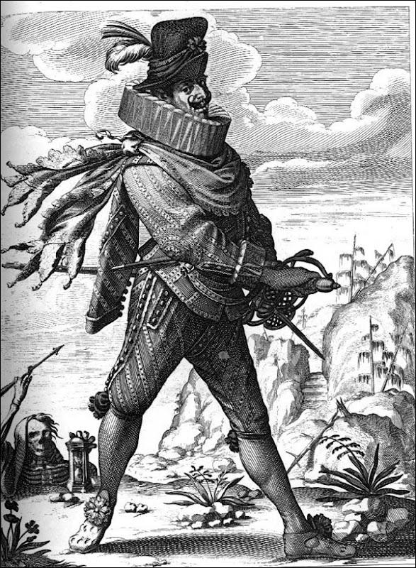 Caricature française d'un soldat espagnol (vers 1640)