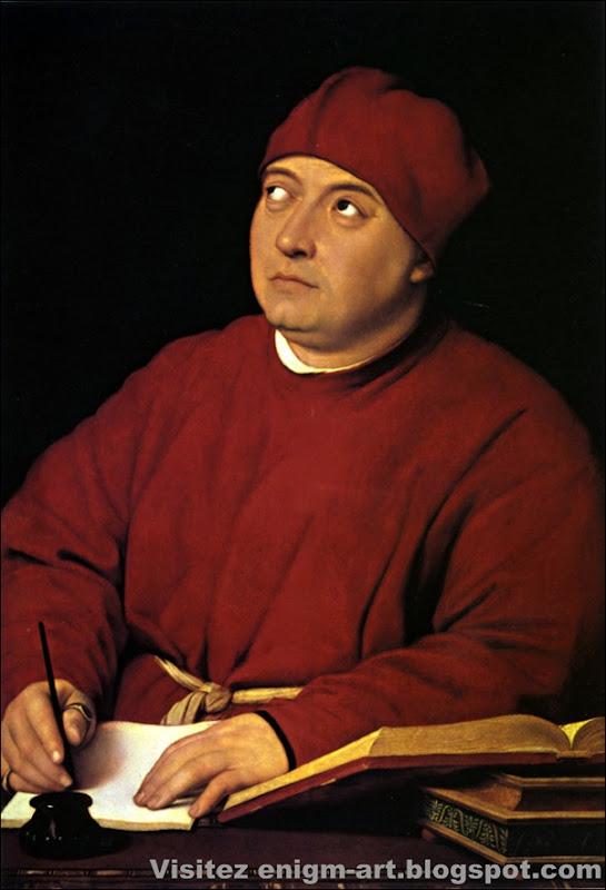Raphaël, Portrait de Tommaso Inghirami,1514
