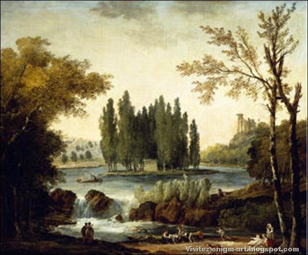 Hubert Robert, Tombeau de Jean-Jacques Rousseau at Ermenonville, 1802