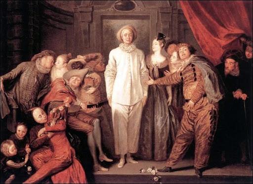Les Comédiens italiens par le peintre français Watteau