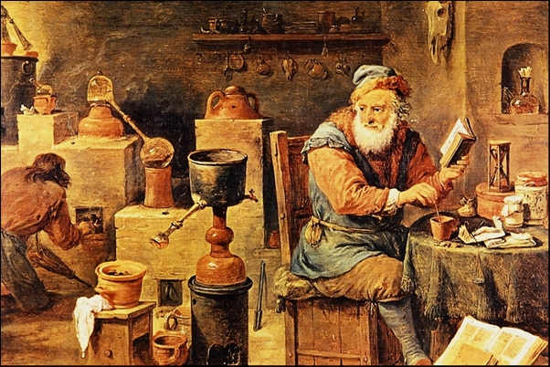 _David_Teniers, L'alchimiste