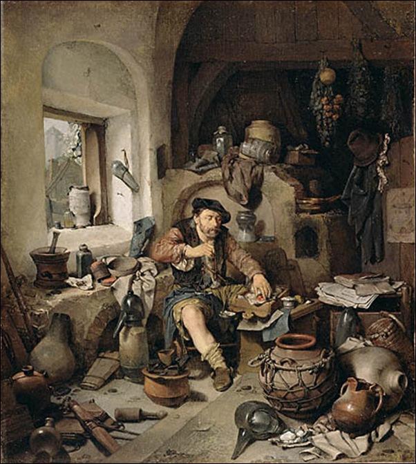Cornelis Pietersz, L'alchimiste