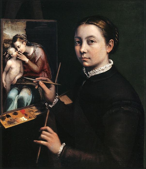 Sofisnoba Anguissola, Autoportrait 1554