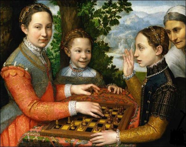 Sofinosba Anguissola, Le jeu d'échecs 1555