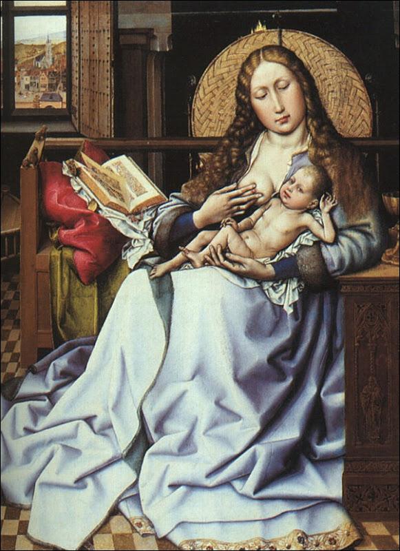 Maître de Flemalle, La Vierge et l'enfant