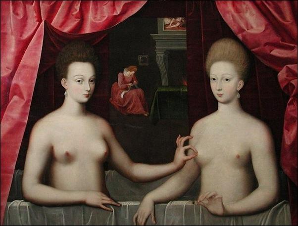 Ecole de Fontainebleau, Gabrielle d'Estrées  et sa soeur