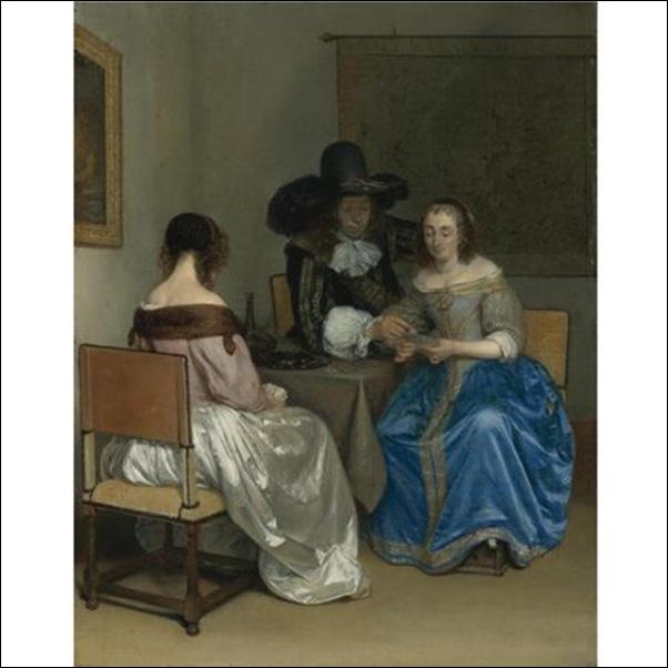 Gerard Ter Borch, Joueurs de cartes
