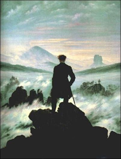 Caspar David Friedrich, Voyage au-dessus des nuages
