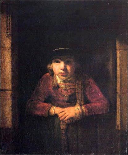 Samuel Van Hoogstraten, jeune garçon nà la fenêtre
