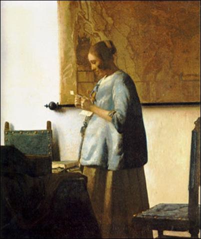 Vermeer, La liseuse en bleu