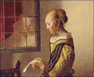 Vermeer, La liseuse à la fenêtre