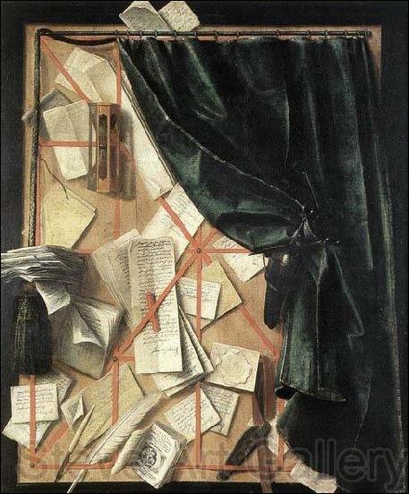 Cornelius Gijsbrechts, Trompe l'oeil au rideau