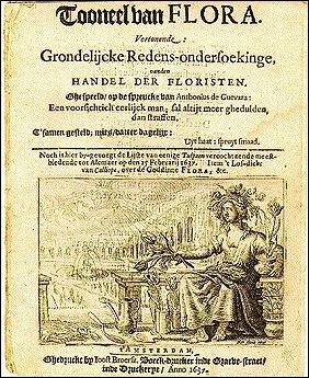 Pamphlet sur la tulipomania 1637