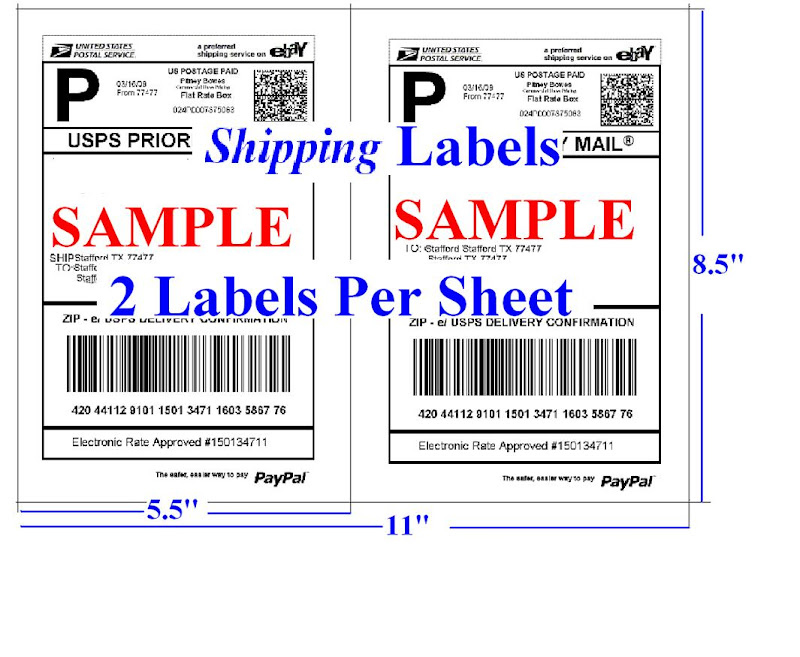 1000 shipping labels self adhesive 2 per sheet 85 x 11 for How to purchase a shipping label