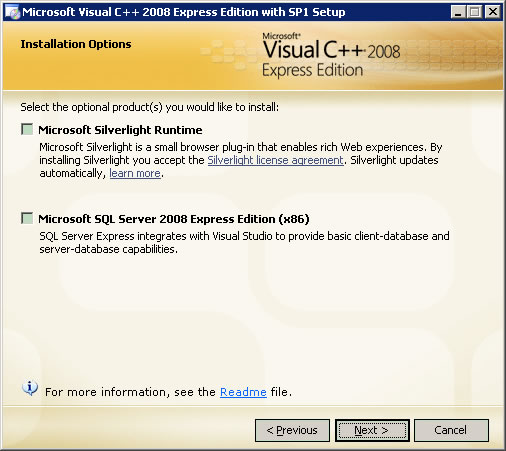 VC++2008_Express_With_SP1-Installation_Options