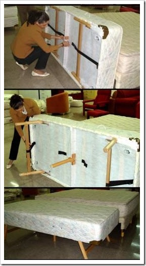 Montando cama articulada.