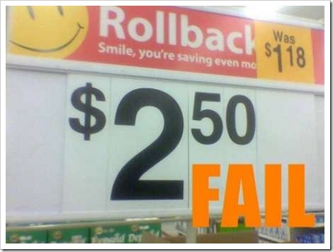 Discount Fail.