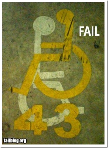 Funny Wheelchair Sign.