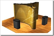 3 sided mural display for Trade show displays and exhibits.