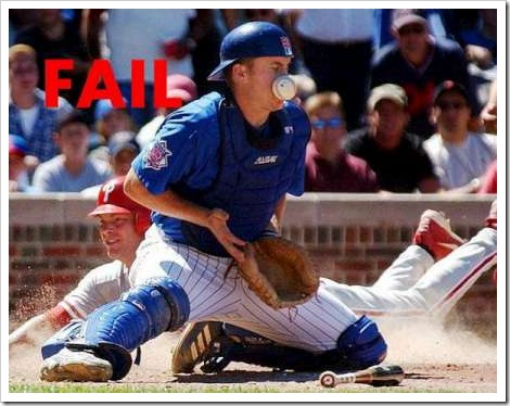 Baseball fail picture.