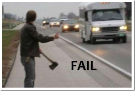 The Hitchhiker fail.