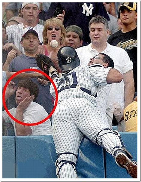 Funny Baseball Fail | Someone makes a really funny face.
