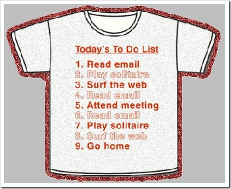 Funny To Do Lists | T-shirt to do list.