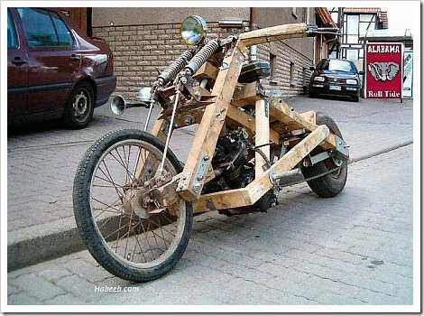Funny wood bike.