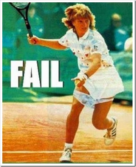 Funny tennis fail picture.