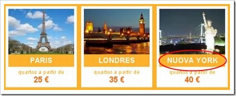 Online travel agency funny picture - New York Rooms for 40€.