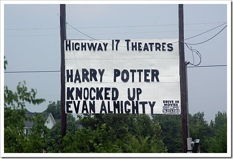Harry Potter knocked up Evan Almighty.