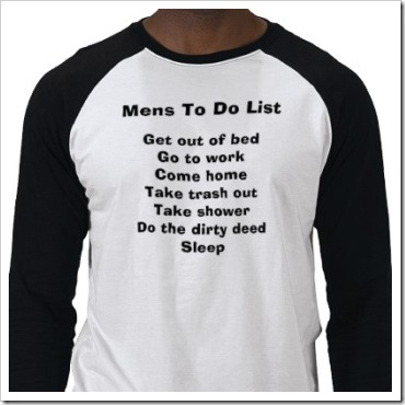 Mens to do list funny t-shirt.