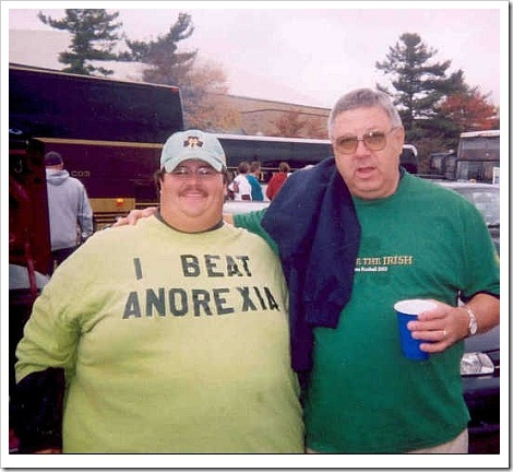 Funny photo weight - I Beat Anorexia.