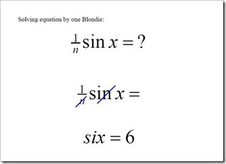 Funny Maths Solution by a blonde.
