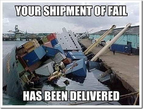 You Shipment of Fail has been Delivered.