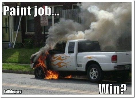 Car Painting Win - Real flames.