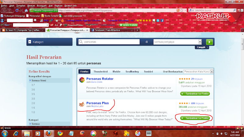 Personas Firefox