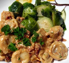 tortellini and brussels sprouts
