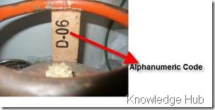 lpg cylinder alphanumeric code