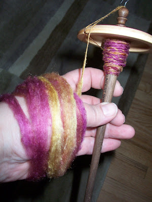 Hankies on the spindle