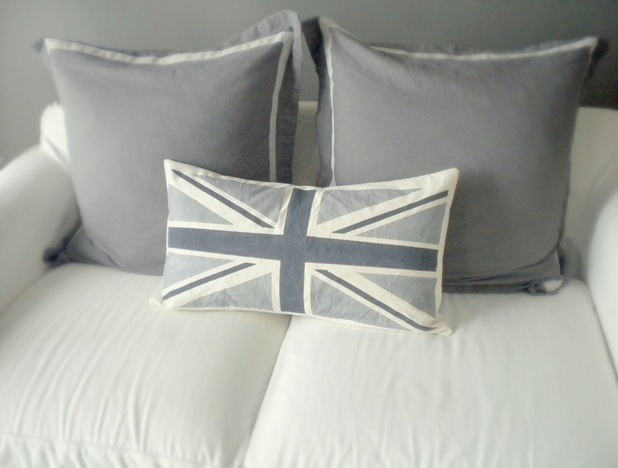 Union Jack cushion