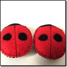Ladybug cat toy
