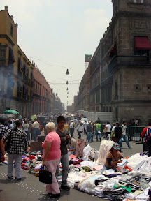 Street Vendors at Zocalo in Mexico City