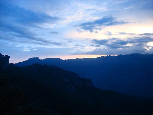 Sunrise overlooking Urique Canyon.